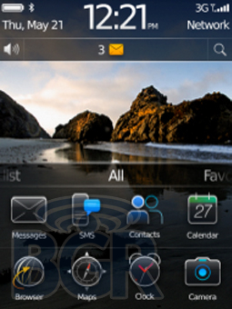 BlackBerry OS Five Goes Touch