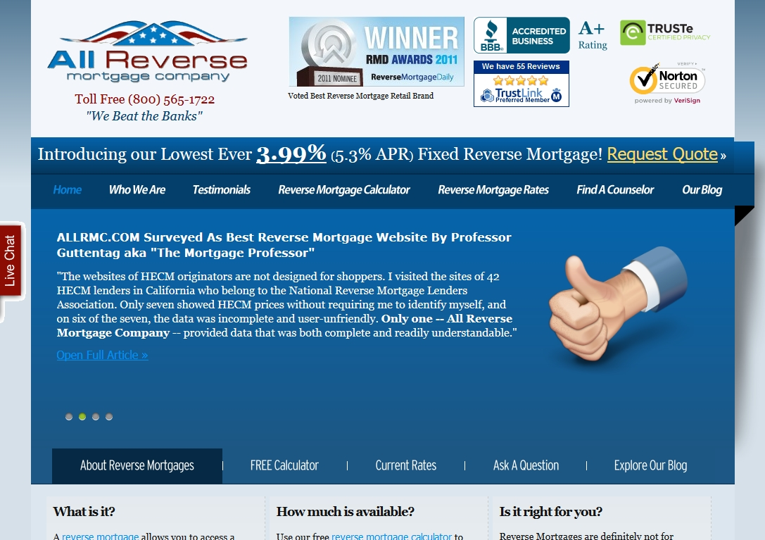All Reverse Mortgage Company Review